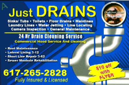 Just-Drains : 24 Hour Drain Cleaning Service in Boston Massachusetts area